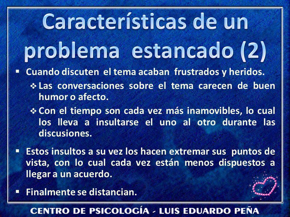 Características de un problema estancado (2)