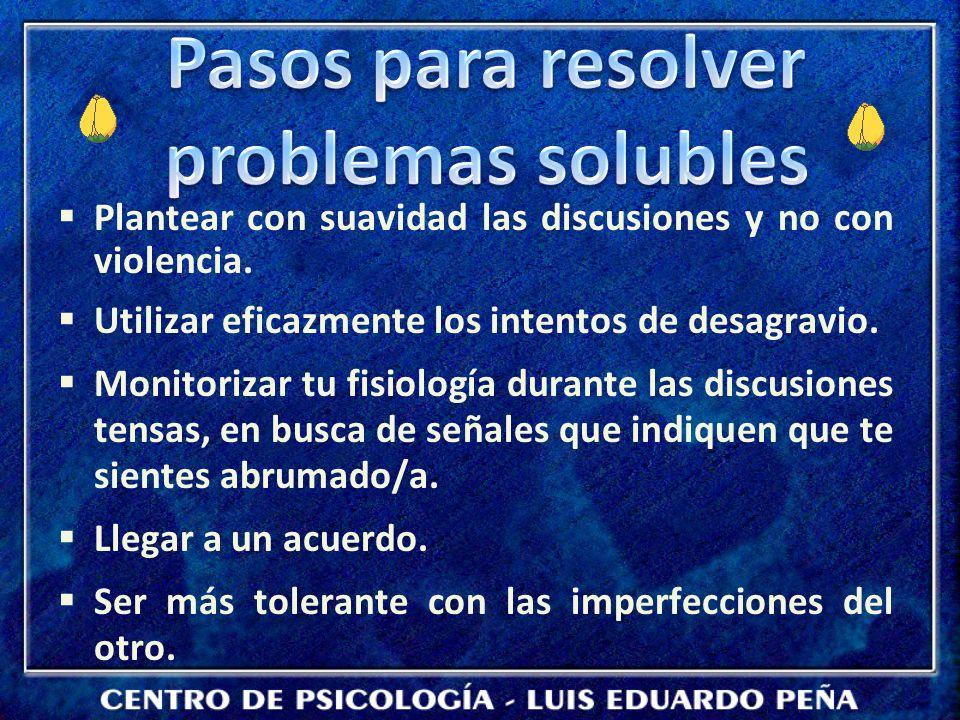 Pasos para resolver problemas solubles