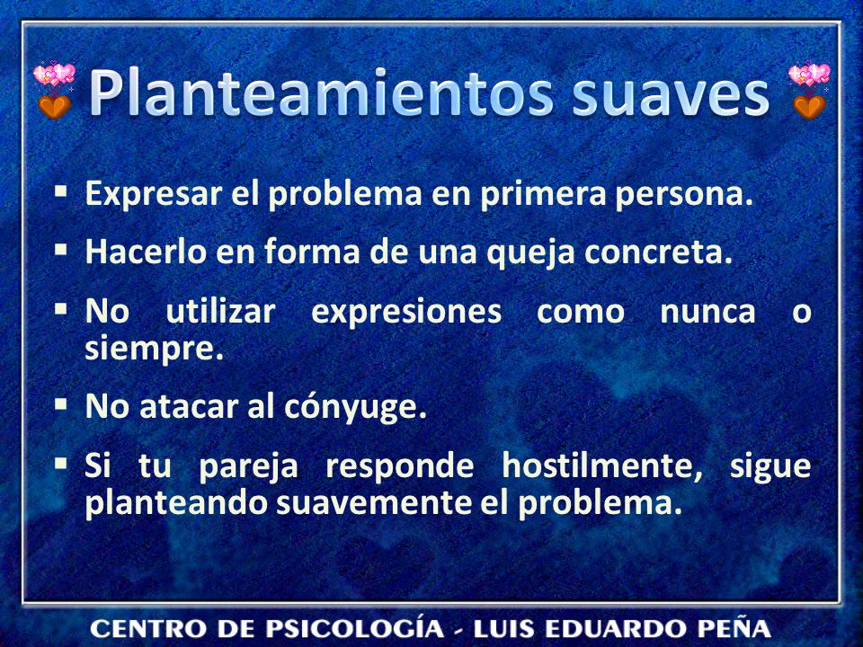 Planteamientos suaves