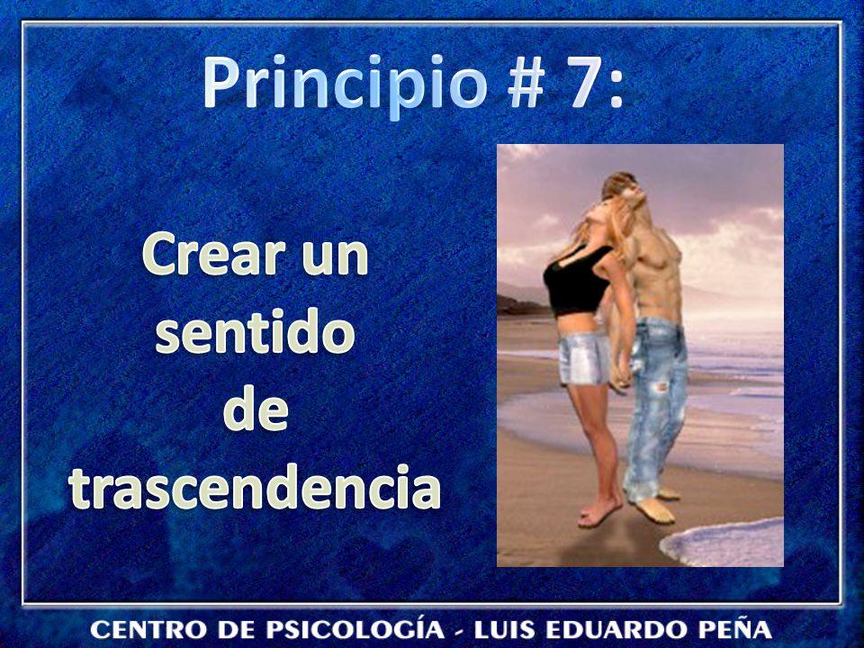 Principio # 7: Crear un sentido de trascendencia