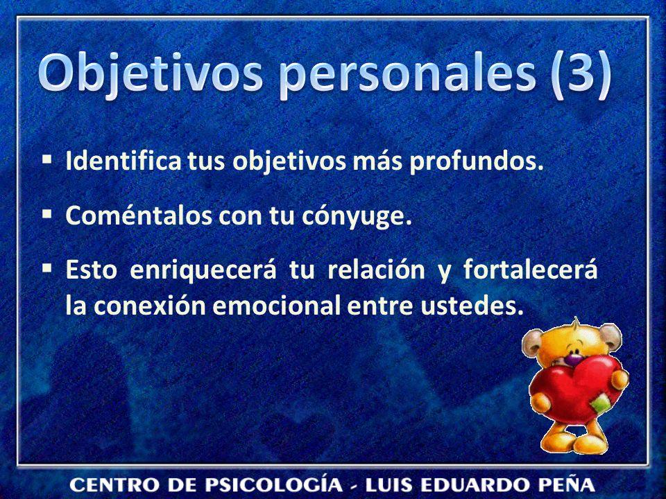 Objetivos personales (3)