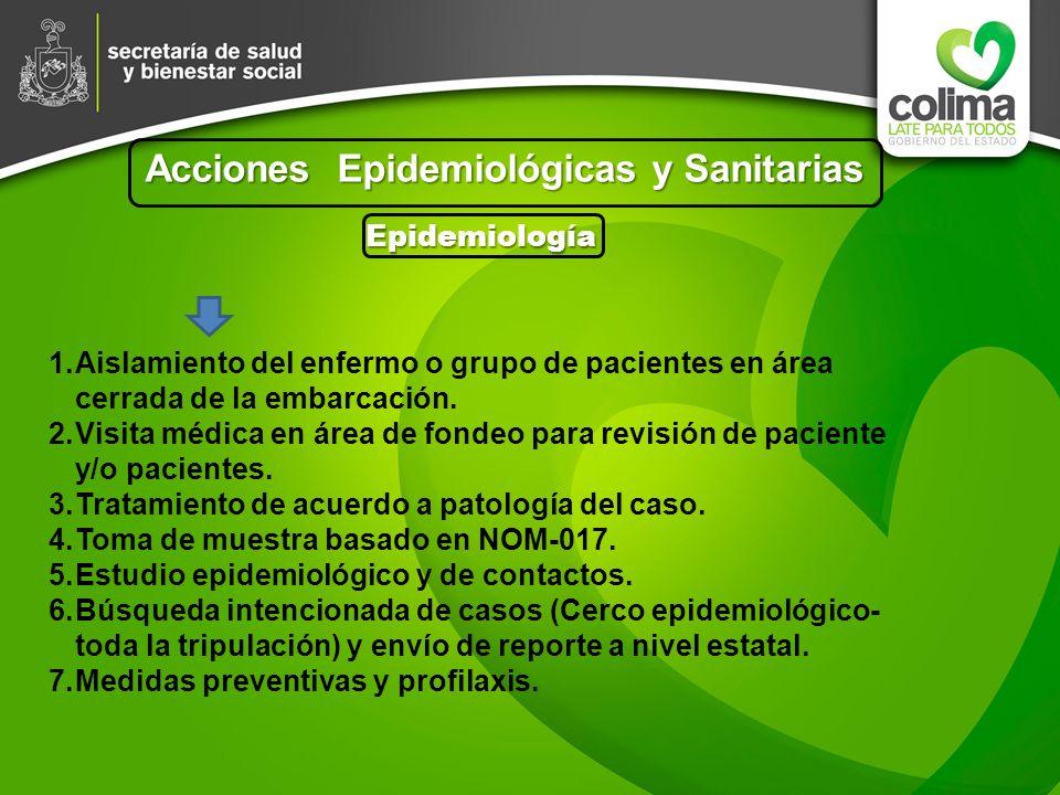 Acciones Epidemiológicas y Sanitarias