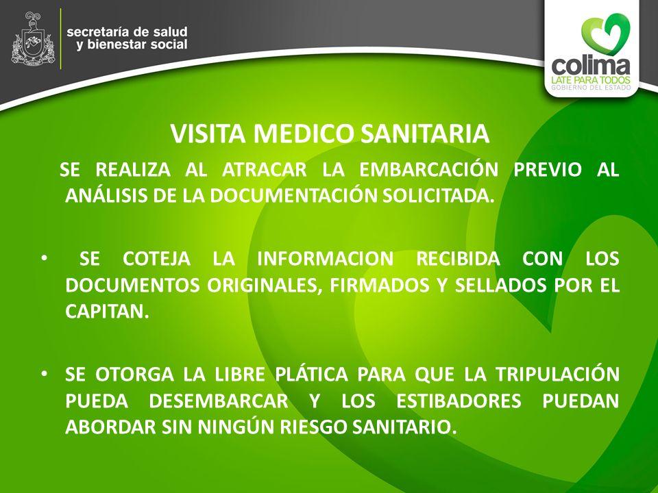 VISITA MEDICO SANITARIA