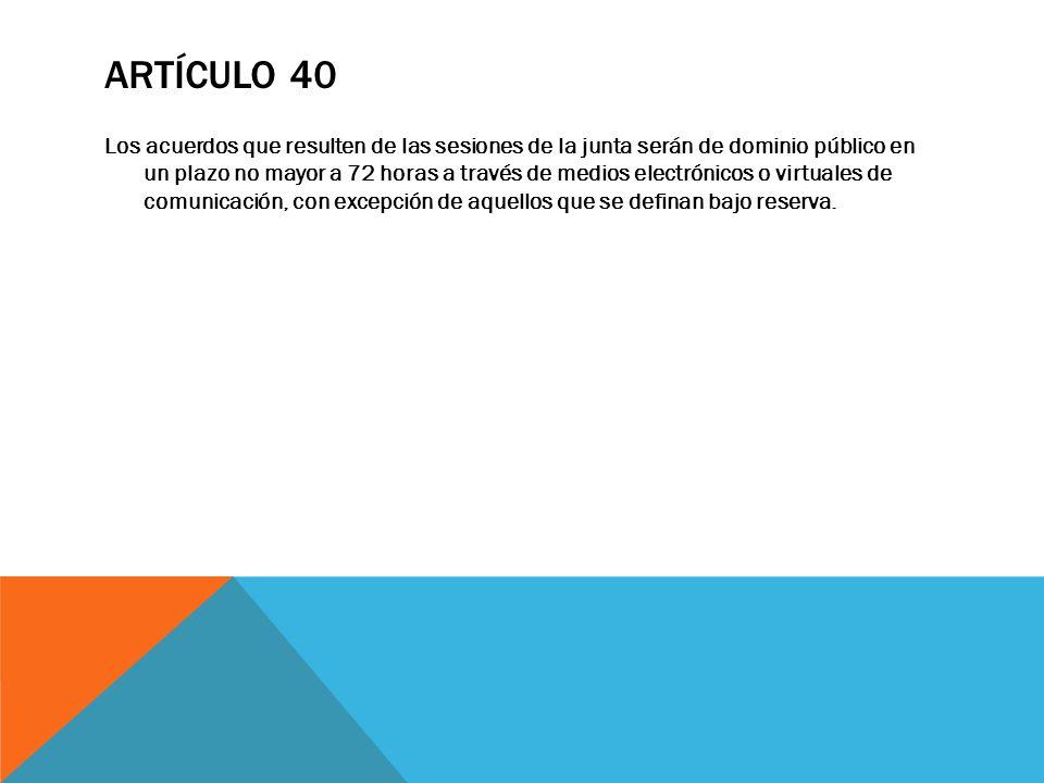 Artículo 40