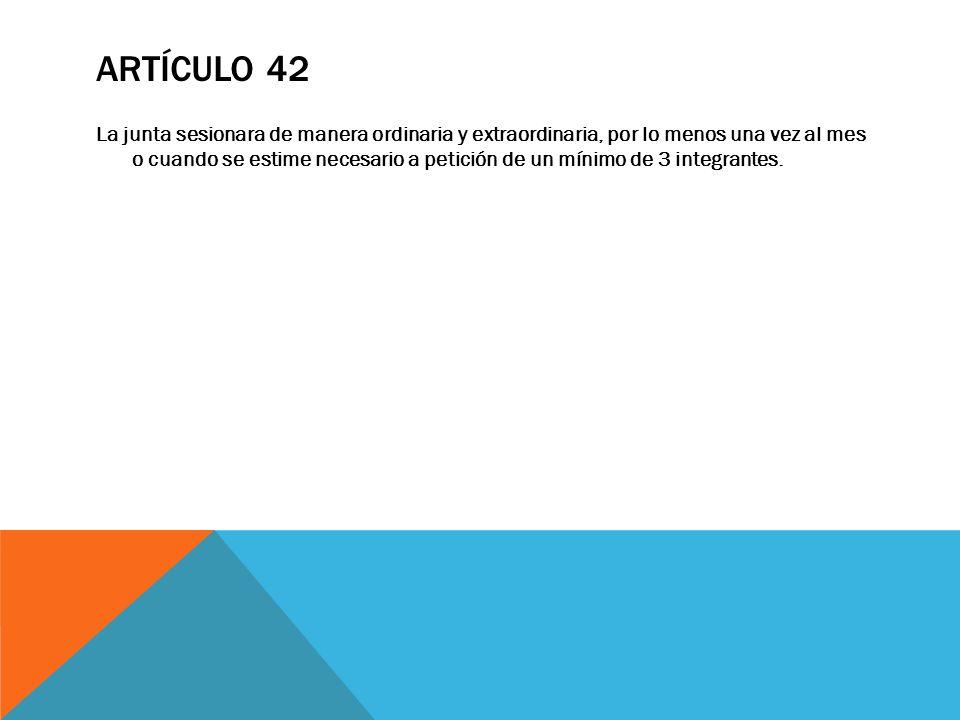 Artículo 42