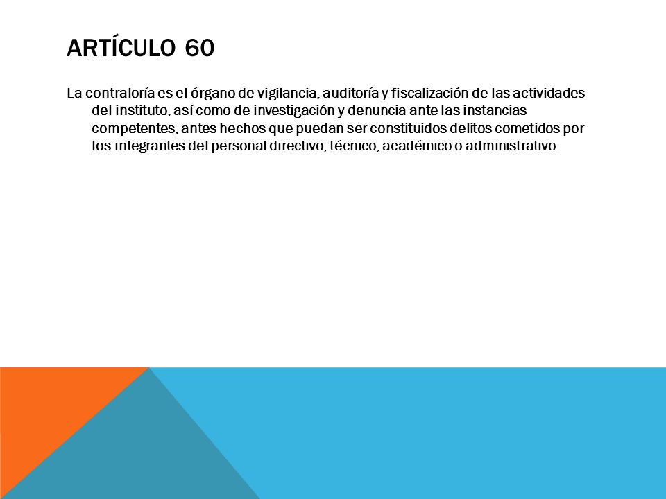 Artículo 60
