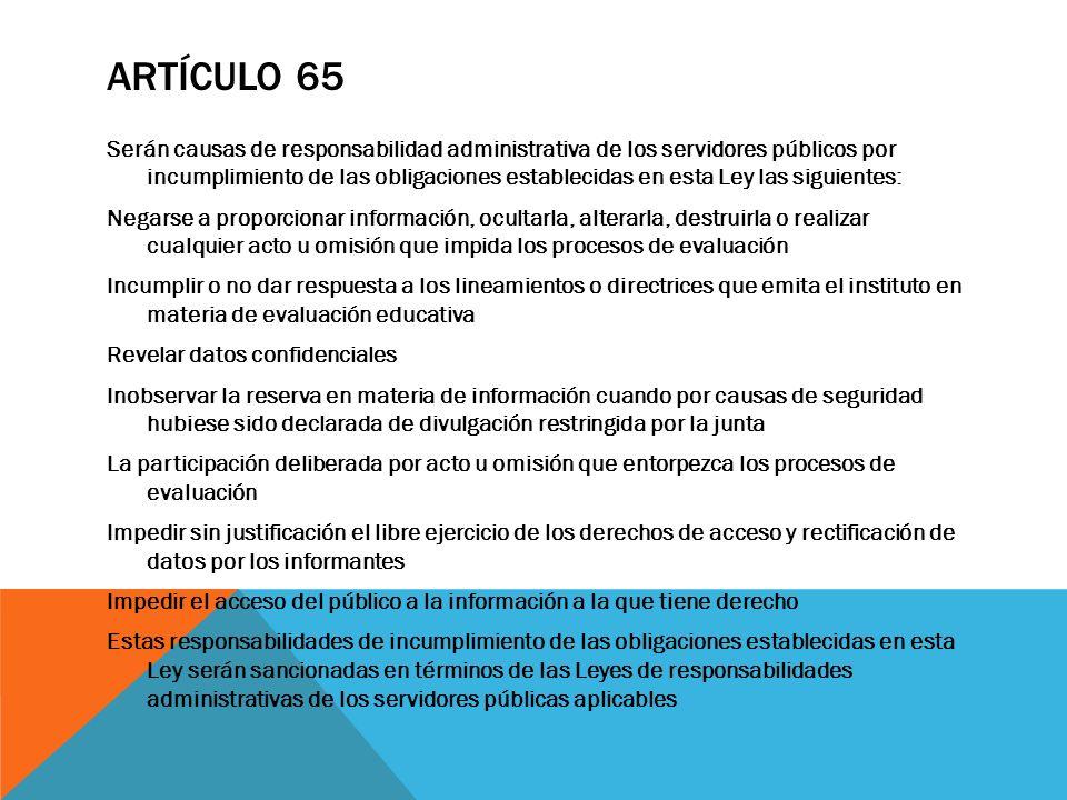 Artículo 65