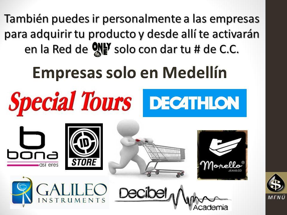 Empresas solo en Medellín