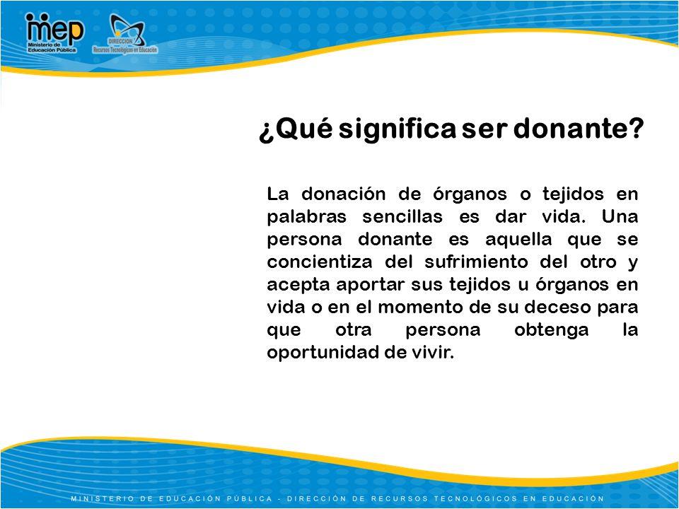 ¿Qué significa ser donante