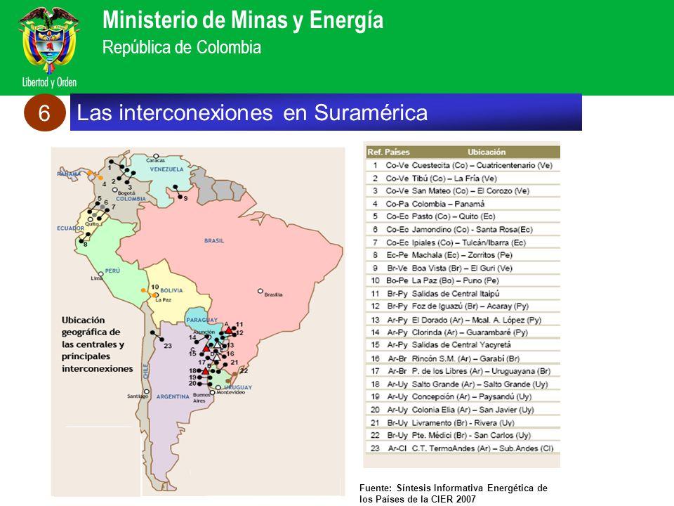 Las interconexiones en Suramérica