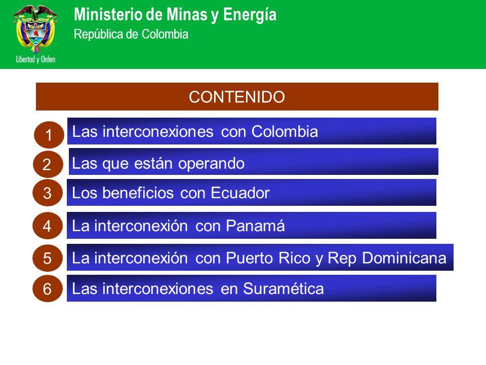 CONTENIDO Las interconexiones con Colombia. 1. 2. Las que están operando. 3. Los beneficios con Ecuador.