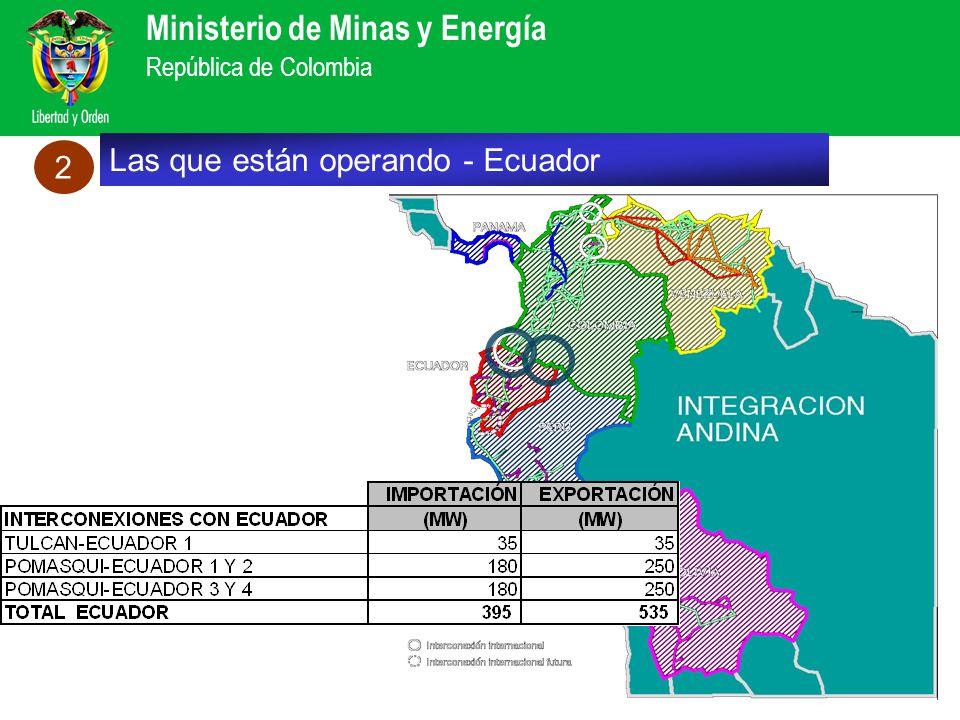 Las que están operando - Ecuador 2