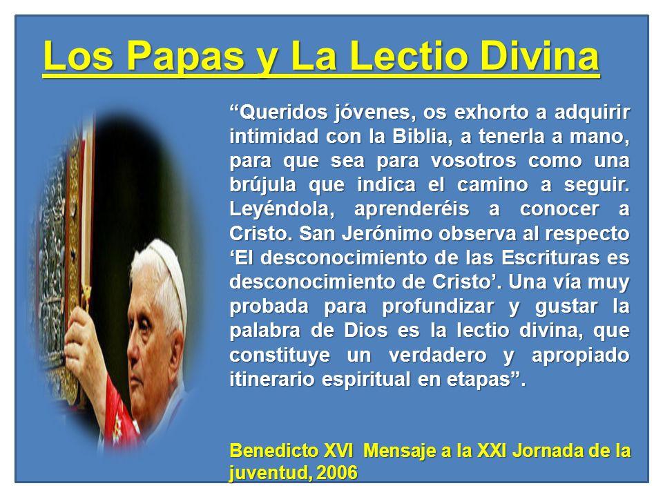 Los Papas y La Lectio Divina