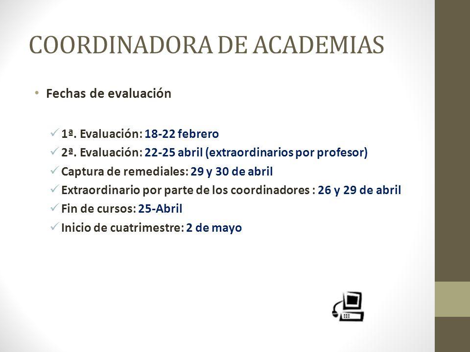 COORDINADORA DE ACADEMIAS