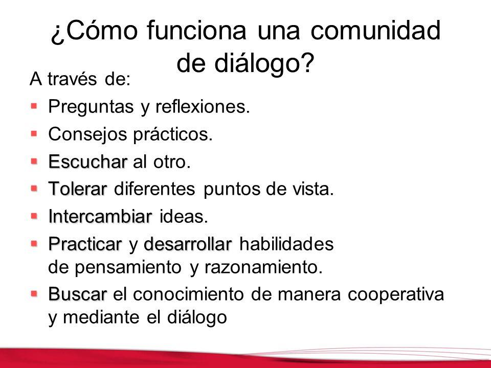¿Cómo funciona una comunidad de diálogo