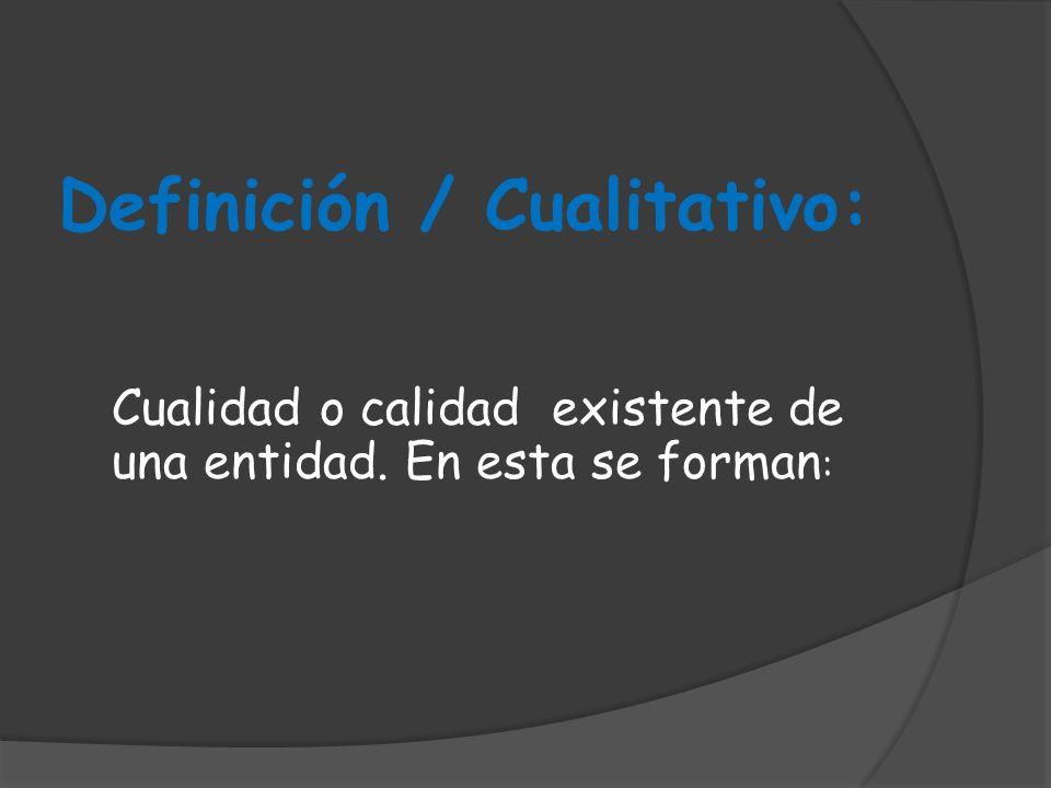 Definición / Cualitativo: