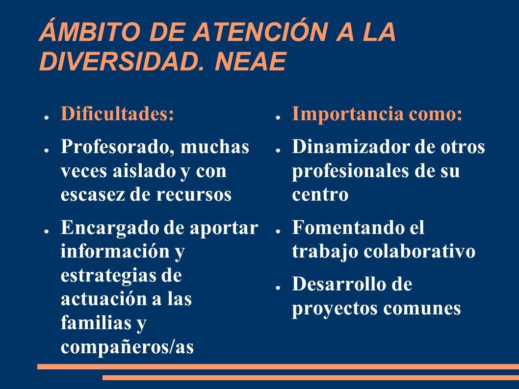 ÁMBITO DE ATENCIÓN A LA DIVERSIDAD. NEAE