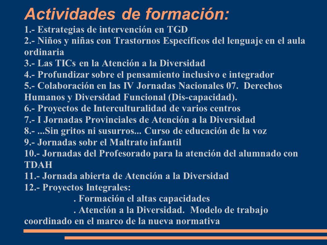 Actividades de formación: