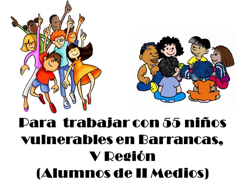 Para trabajar con 55 niños vulnerables en Barrancas,