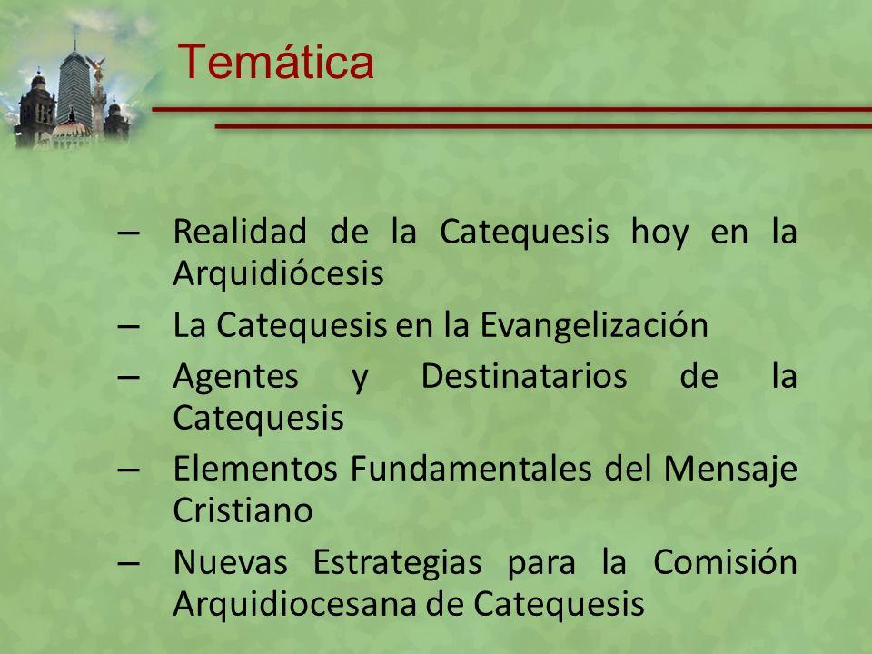 Temática Realidad de la Catequesis hoy en la Arquidiócesis