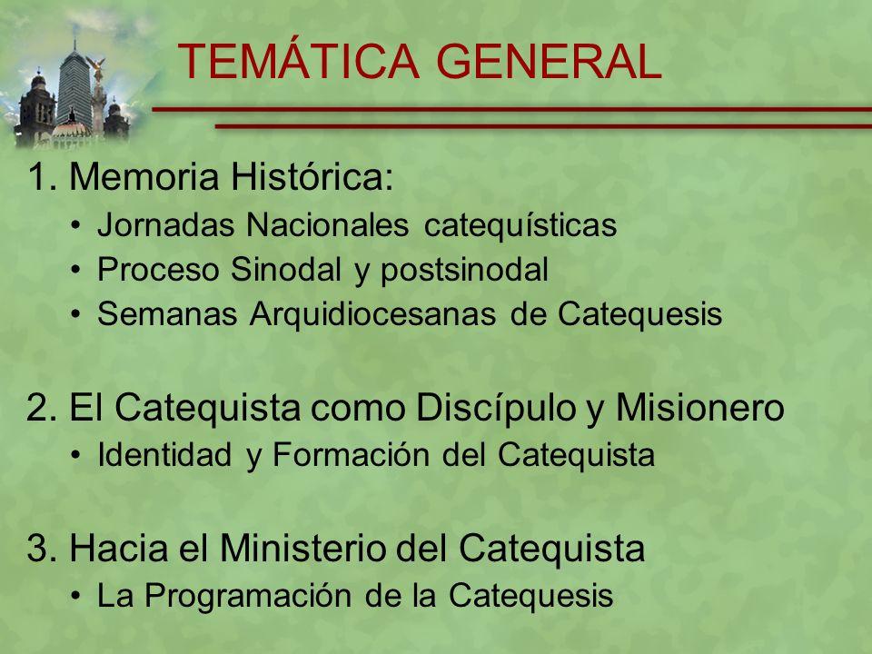 TEMÁTICA GENERAL 1. Memoria Histórica: