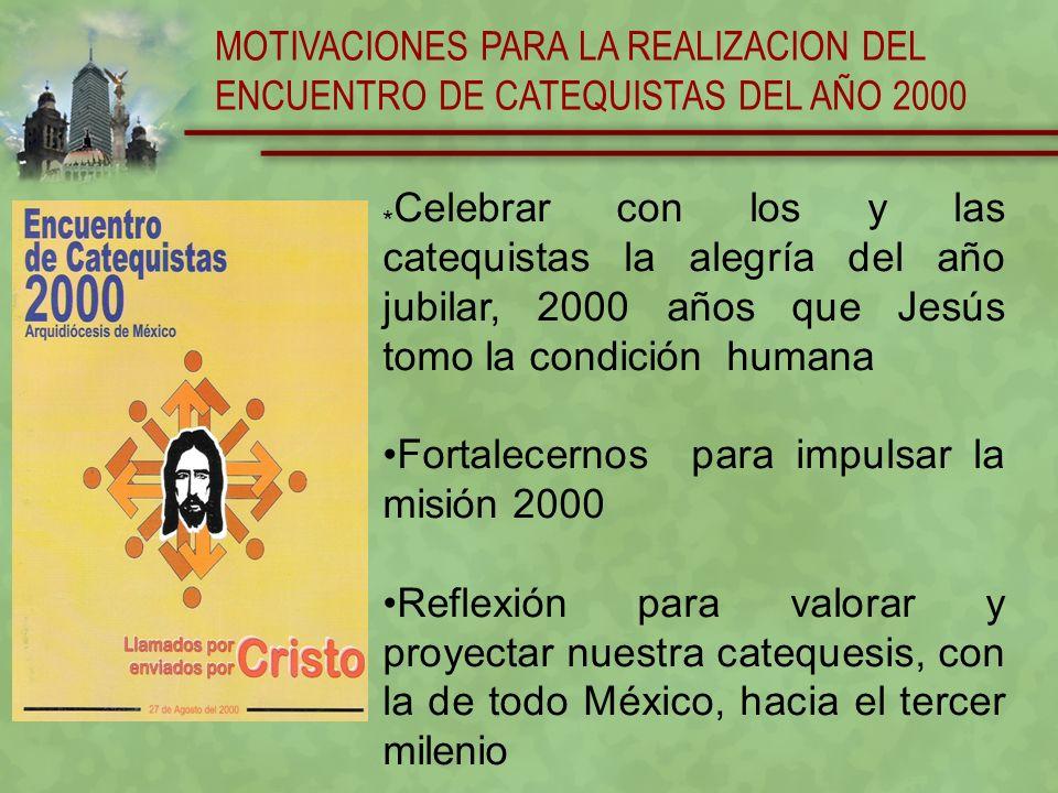 MOTIVACIONES PARA LA REALIZACION DEL ENCUENTRO DE CATEQUISTAS DEL AÑO 2000