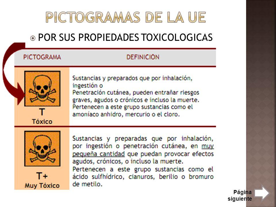 POR SUS PROPIEDADES TOXICOLOGICAS