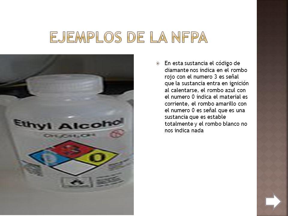Ejemplos de la NFPA