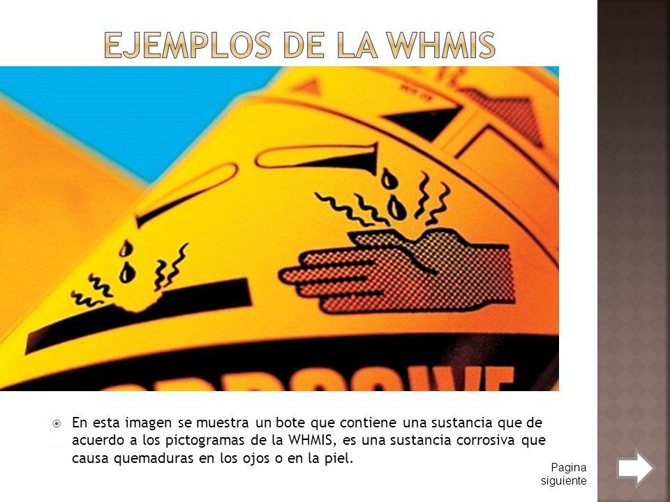 Ejemplos de la WHMIS