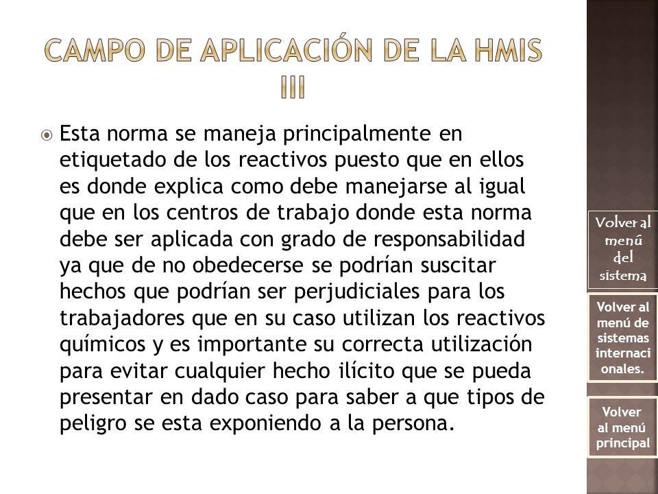 CAMPO DE APLICACIÓN DE LA HMIS III