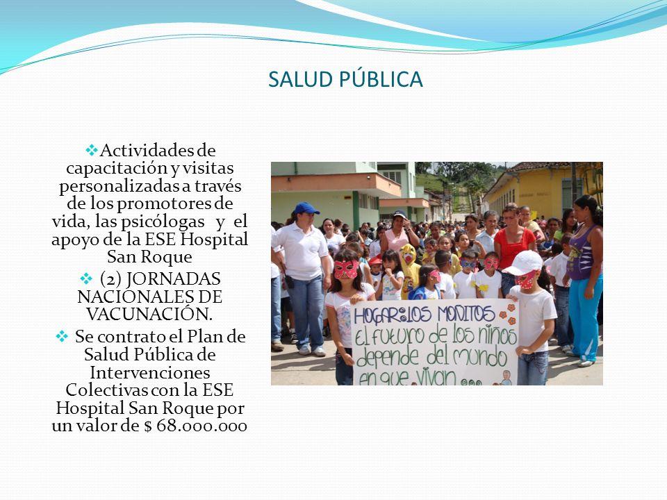 (2) JORNADAS NACIONALES DE VACUNACIÓN.