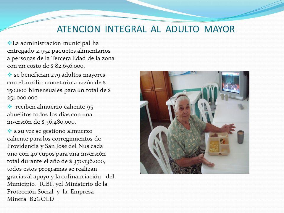 ATENCION INTEGRAL AL ADULTO MAYOR