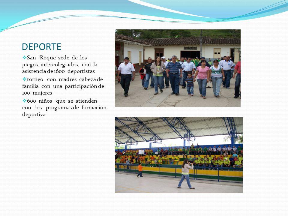 DEPORTE San Roque sede de los juegos, intercolegiados, con la asistencia de 1600 deportistas.