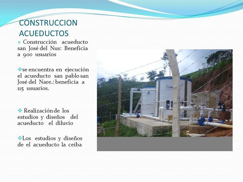 CONSTRUCCION ACUEDUCTOS