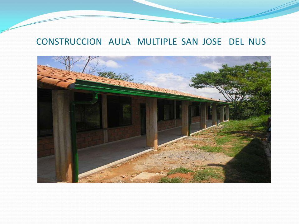 CONSTRUCCION AULA MULTIPLE SAN JOSE DEL NUS