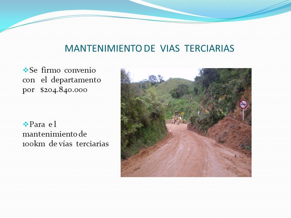 MANTENIMIENTO DE VIAS TERCIARIAS