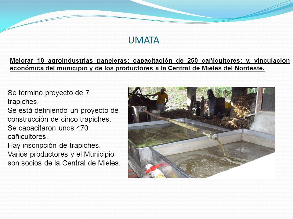 UMATA Se terminó proyecto de 7 trapiches.