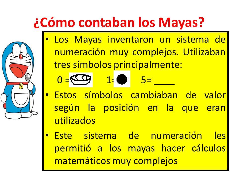 ¿Cómo contaban los Mayas