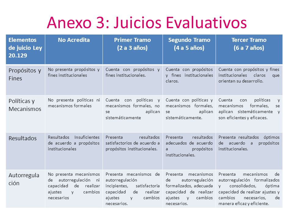 Anexo 3: Juicios Evaluativos