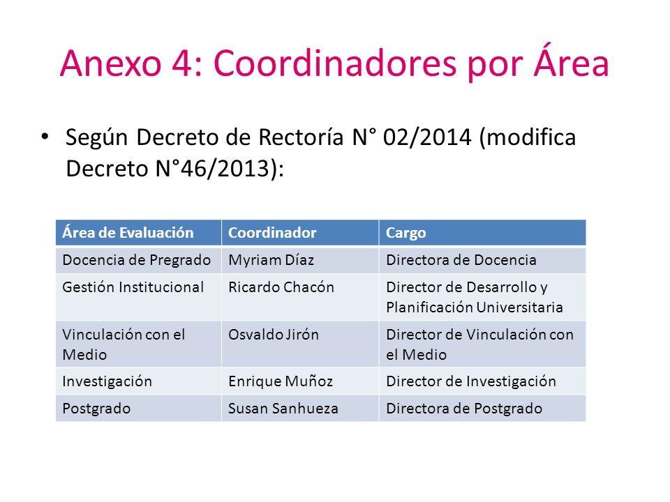 Anexo 4: Coordinadores por Área