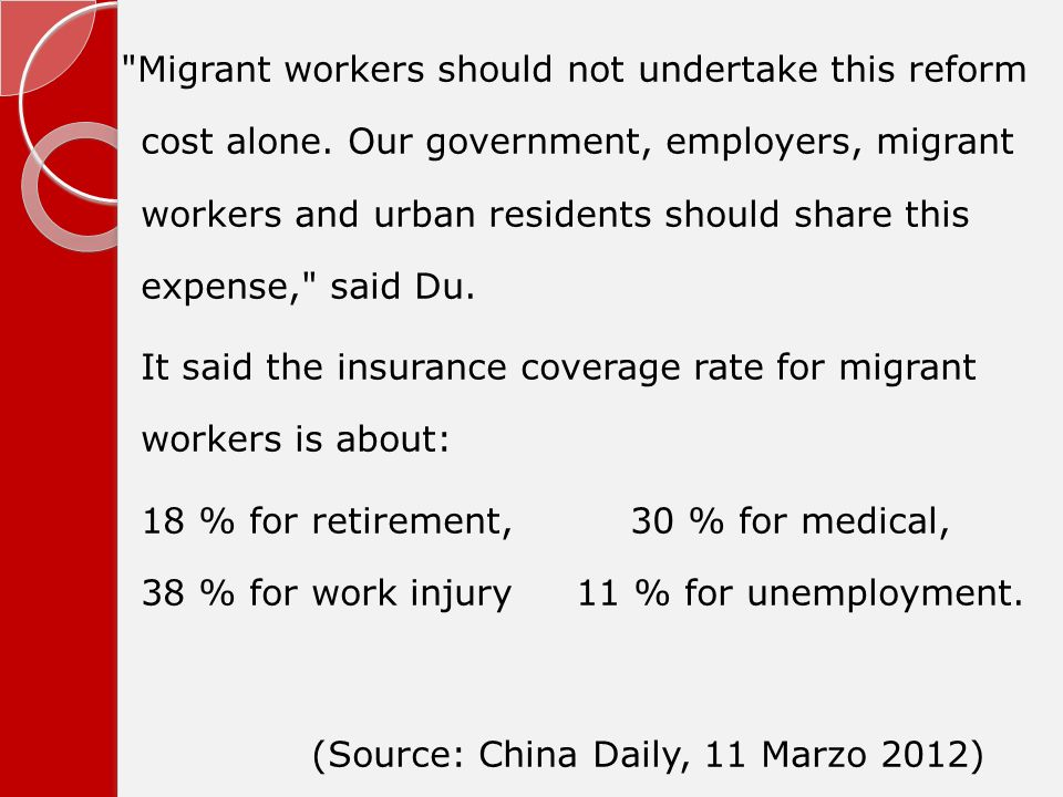 Migrant workers should not undertake this reform cost alone