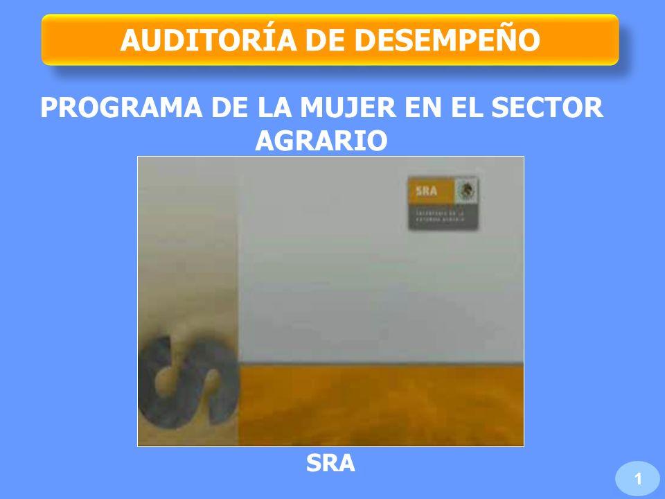 AUDITORÍA DE DESEMPEÑO PROGRAMA DE LA MUJER EN EL SECTOR AGRARIO