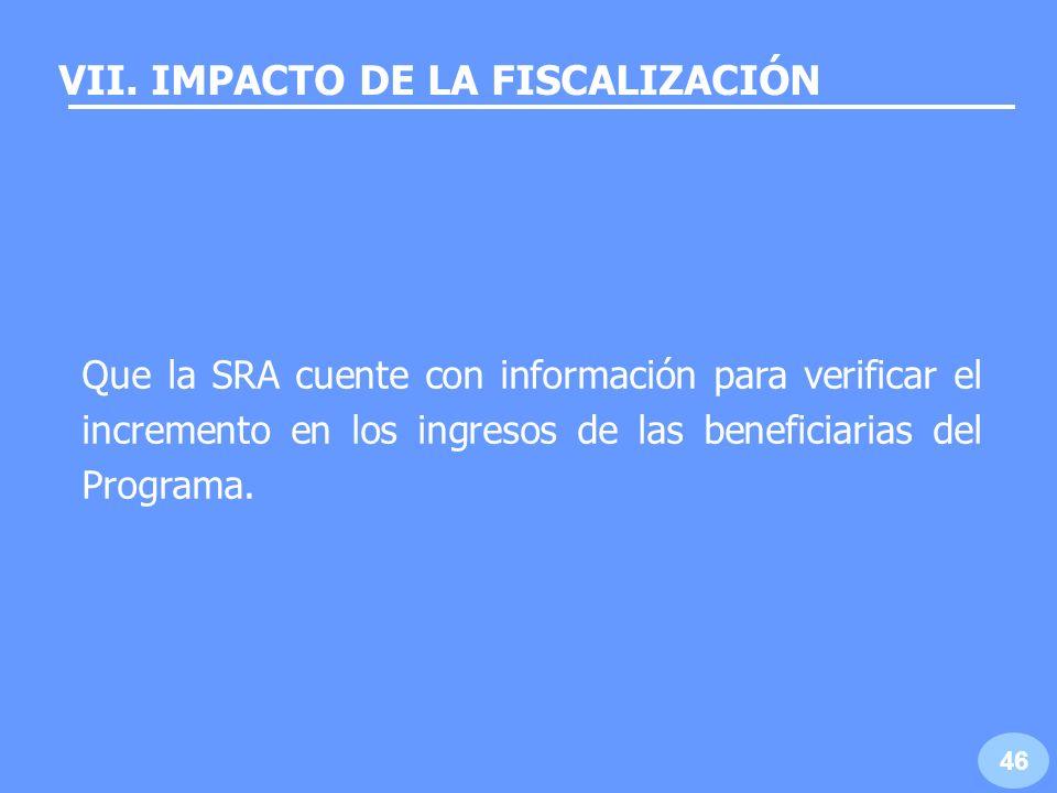 VII. IMPACTO DE LA FISCALIZACIÓN