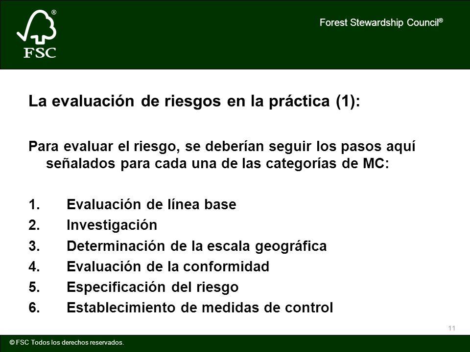 La evaluación de riesgos en la práctica (1):