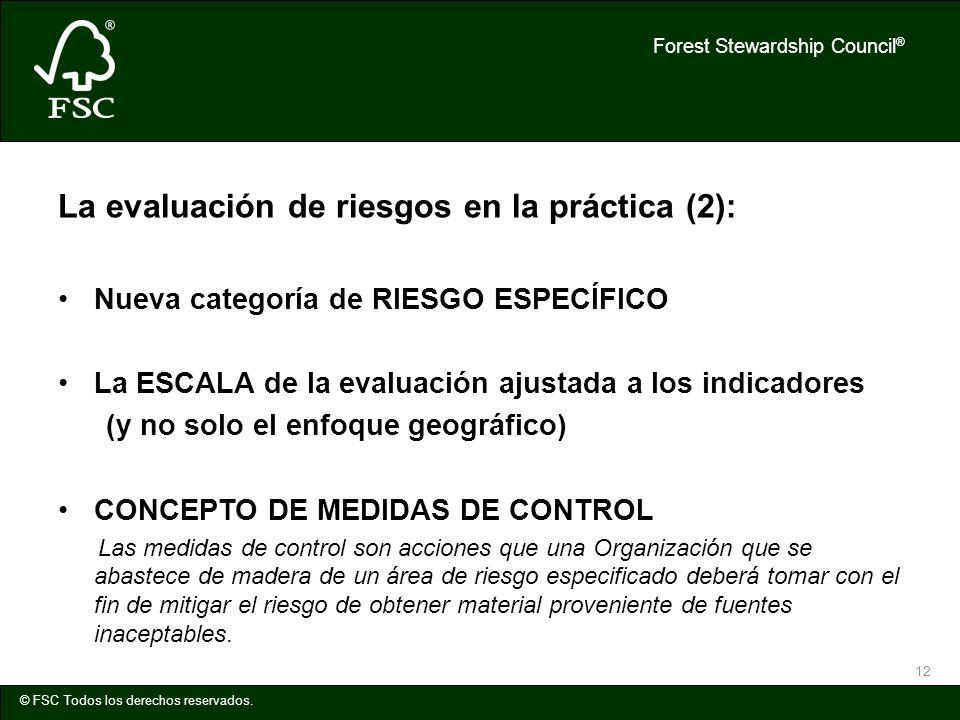 La evaluación de riesgos en la práctica (2):