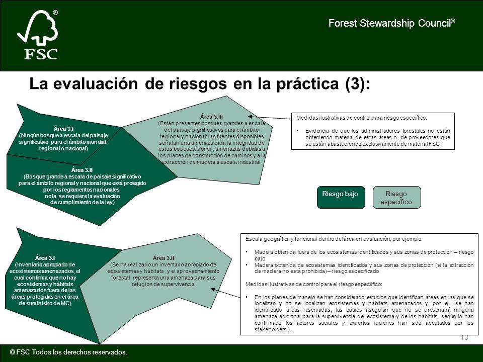 La evaluación de riesgos en la práctica (3):