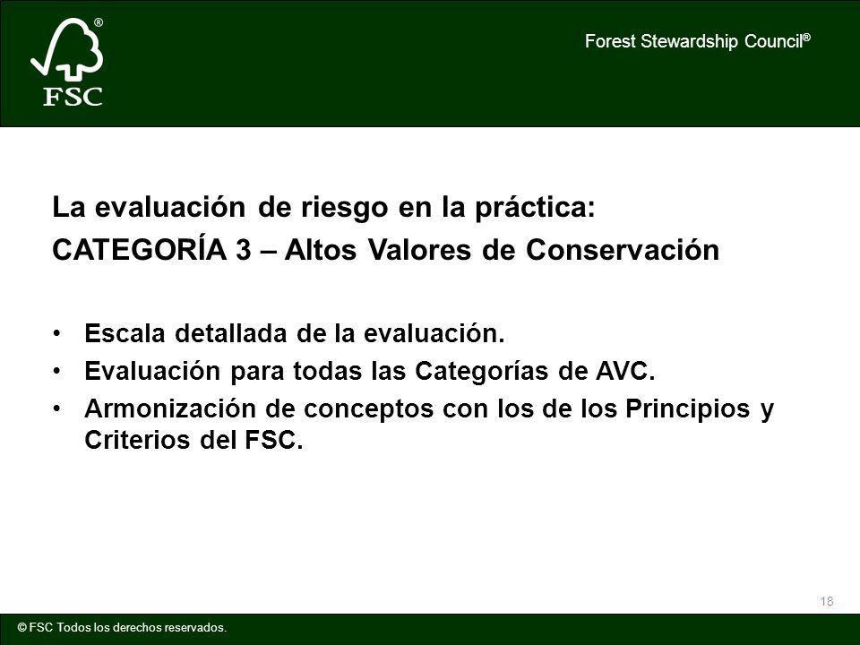 La evaluación de riesgo en la práctica: