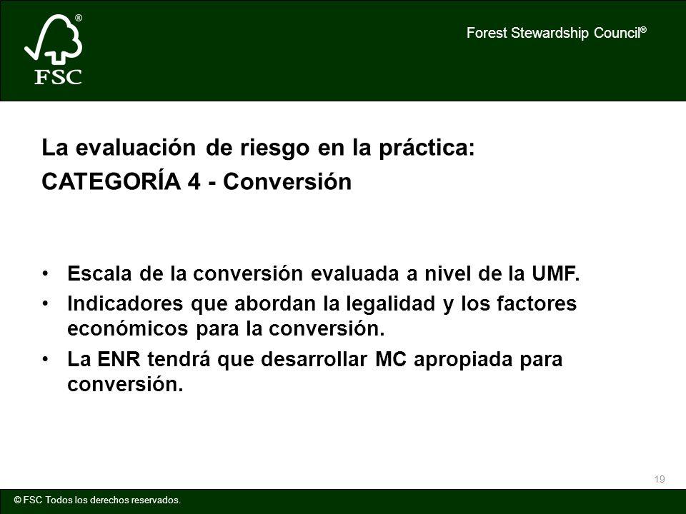 La evaluación de riesgo en la práctica: CATEGORÍA 4 - Conversión