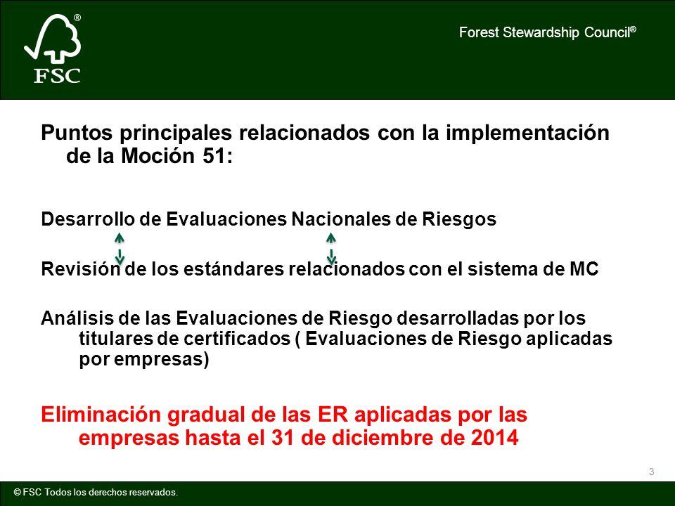 Puntos principales relacionados con la implementación de la Moción 51: