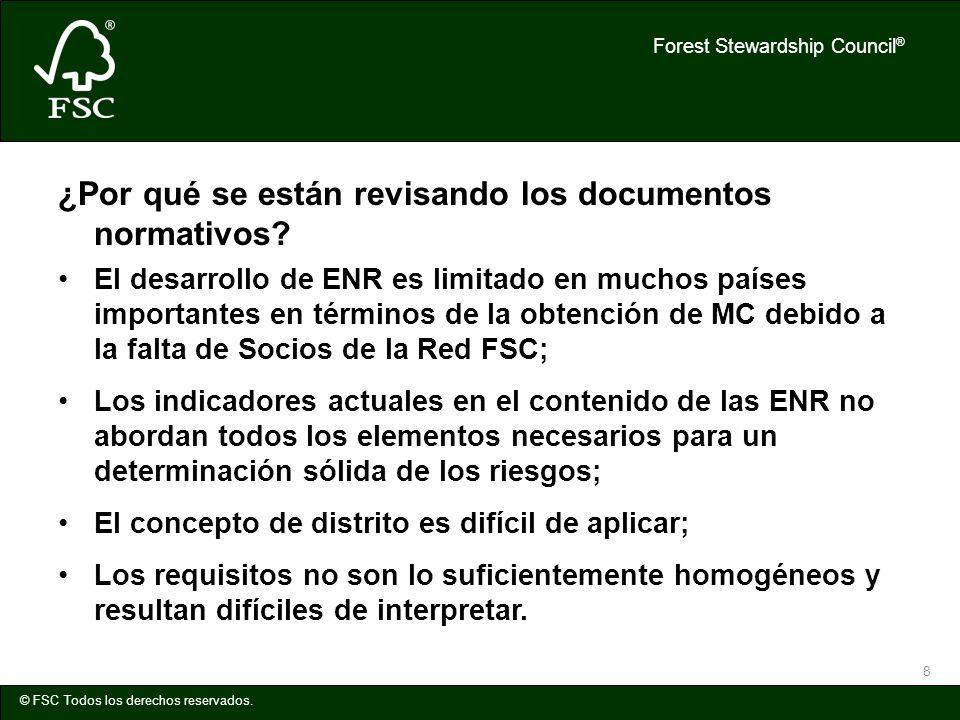 ¿Por qué se están revisando los documentos normativos